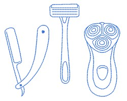 Barber Tools embroidery design