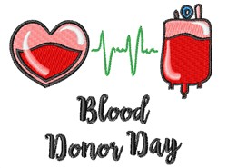 Blood Donor Day embroidery design