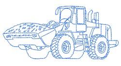 Bulldozer Outline embroidery design