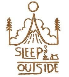 Sleep Outside embroidery design