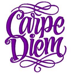 Carpe Diem embroidery design
