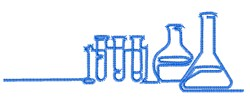 Beakers Outline embroidery design