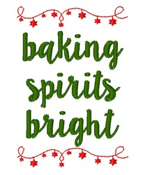 Baking Spirits Bright embroidery design