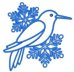 Snowflake Bird embroidery design