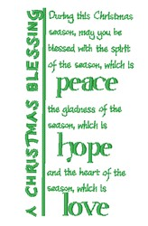 Christmas Blessing embroidery design