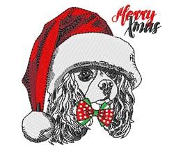 Merry Xmas Dog embroidery design