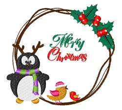 Christmas Birds embroidery design