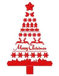 Christmas Sweater Christmas Tree embroidery design