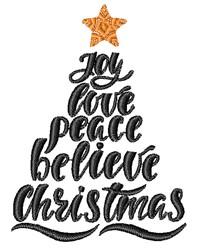 Christmas Joy Tree embroidery design