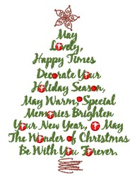 The Wonder Of Christmas embroidery design