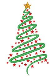 Christmas Swirls & Stars embroidery design