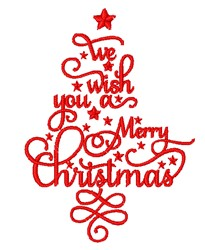 Beautiful Christmas Sentiments embroidery design