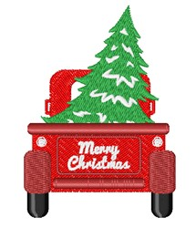 Merry Christmas Pick Up embroidery design