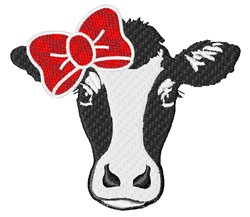 Glamorous Girl Cow embroidery design