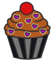 Chocolate Cupcake embroidery design