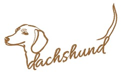 Dachshund Outline embroidery design