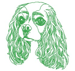 King Charles Spaniel Head embroidery design
