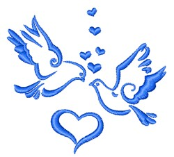 Valentine Doves embroidery design