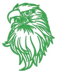 Eagle Head Outline embroidery design