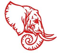 Elephant Profile embroidery design