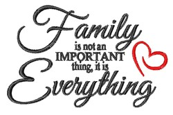 Family Is Everything embroidery design