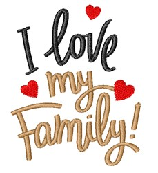 Love Family embroidery design