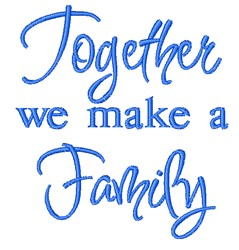 Together Family embroidery design