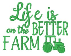Life On Farm embroidery design