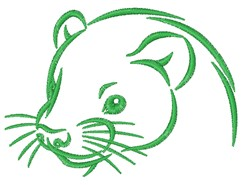 Ferret Outline embroidery design