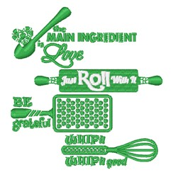 Kitchen Captions embroidery design