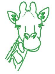 Giraffe Head Outline embroidery design