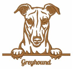 Greyhound Outline embroidery design
