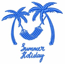 Summer Holiday embroidery design