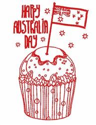 Happy Australia Day embroidery design