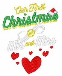 Our First Christmas embroidery design