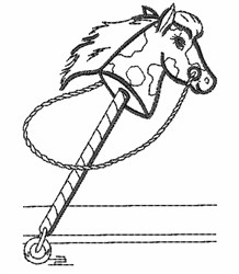 Hobby Horse Outline embroidery design
