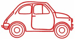 VW Beetle Outline embroidery design