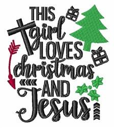 Love Christmas & Jesus embroidery design