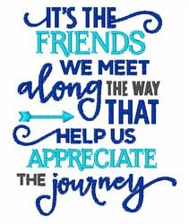 Appreciate The Journey embroidery design