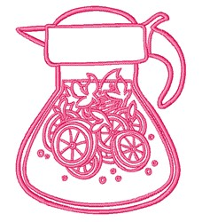 Lemonade Pitcher embroidery design