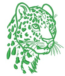 Leopard Head embroidery design