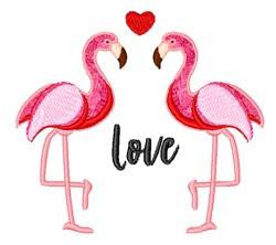 Flamingo Love embroidery design