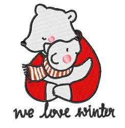 We Love Winter embroidery design