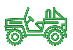 Jeep Outline embroidery design