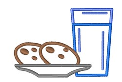 Cookies & Milk embroidery design