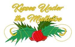 Kisses Under Mistletoe embroidery design