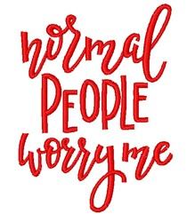 Normal People embroidery design