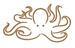 Octopus Outline embroidery design