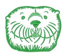 Otter Head embroidery design