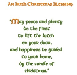 Irish Christmas Blessing embroidery design
